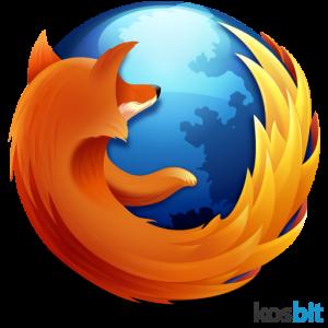 Logotipo no navegador Firefox original
