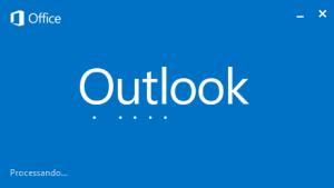 Outlook: processando os dados inseridos