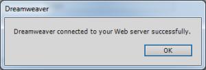 Confirmação da conexão com o servidor