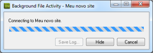 Dreamweaver estabelecendo conexão com o servidor