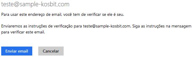 Verificação de e-mail